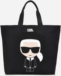 Karl Lagerfeld - K/ikonik Karl Printed Canvas Tote Bag - Lyst