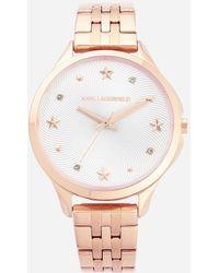 Karl Lagerfeld - Karo Pink Bracelet - Lyst