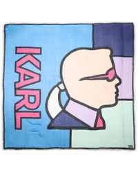 Karl Lagerfeld - Stained Glass Karl Scarf - Lyst