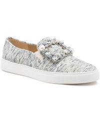 Karl Lagerfeld - Evelyn Tweed Slip-on Sneaker - Lyst