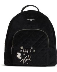 Karl Lagerfeld - Velvet Backpack - Lyst