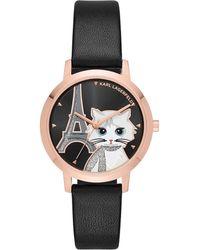 Karl Lagerfeld - Choupette Eiffel Tower Watch - Lyst