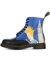 0a241585dc0 Lyst - Dr. Martens 1460 Pascal Beavis   Butthead Print 8 Eye Boots ...