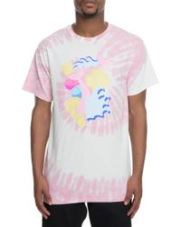 181112ee Pink Dolphin - The Block Pill Tee In White And Pink - Lyst