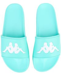 Kappa - The Authentic Adam 2 Sandal In Azure Turquoise And White - Lyst