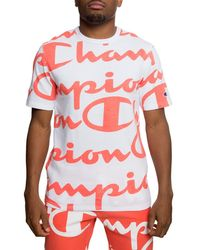 105c5248e Lyst - Champion Heritage Graphic Tee in White for Men