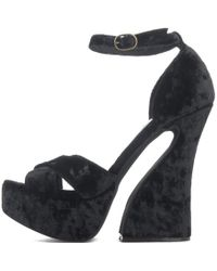 d5dd0ba8732 Jeffrey Campbell - For Women  Stefanya Black Platform Wedges - Lyst