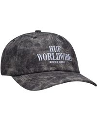 417e5540471 Huf - The Serif Stack Frost Wash Cv Hat In Black - Lyst