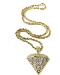 Haste Goods - Iced Out Diamond Necklace - Lyst