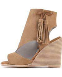 4fc1ba86298 Jeffrey Campbell - For Women  Palmyra Tan Wedges - Lyst