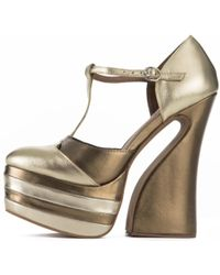 094c6358aae3 Jeffrey Campbell - For Women  Lucetta Gold Platform Wedges - Lyst