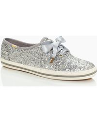 c28e0f971ec7 Lyst - Kate Spade New York Keds For Glitter Sneakers in Blue