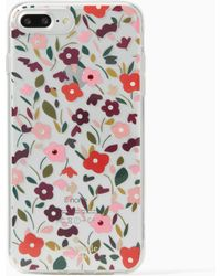 Kate Spade - Jeweled Boho Floral Clear Iphone 7 Plus Case - Lyst