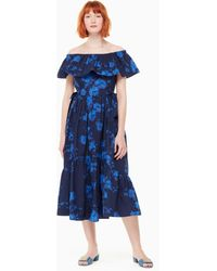 Kate Spade - Hibiscus Off The Shoulder Dress - Lyst