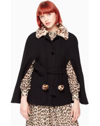 Kate Spade - Leopard Collar Belted Cape - Lyst