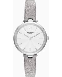 Kate Spade - Holland Three-hand Silver Fabric Watch - Lyst