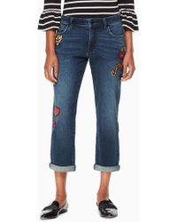 Kate Spade - Patch Embellished Jean - Lyst
