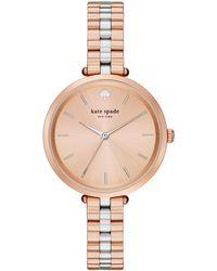 Kate Spade - Holland Skinny Rose Gold-tone Bracelet Watch - Lyst