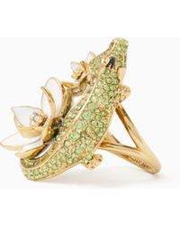 Kate Spade - Swamped Pave Alligator Ring - Lyst