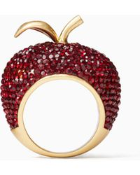 Kate Spade - Dashing Beauty Apple Ring - Lyst