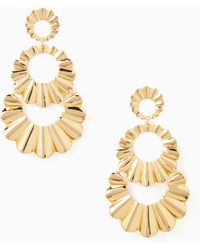 Kate Spade - Scrunched Scallops Triple Drop Earrings - Lyst