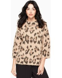 Kate Spade - Leopard Chunky Sweater - Lyst