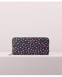 Kate Spade - Sylvia Lips Slim Continental Wallet - Lyst