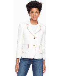 Kate Spade - Blossom Trim Tweed Jacket - Lyst