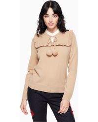 Kate Spade - Wool Cashmere Pom Sweater - Lyst
