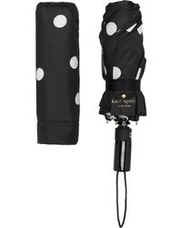 Kate Spade - Black And Cream Deco Dot Travel Umbrella - Lyst