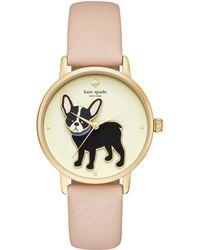 Kate Spade - Metro Grand Antoine Vachetta Leather Watch - Lyst