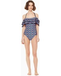 Kate Spade - Botany Bay Off The Shoulder One-piece Swimsuit - Lyst