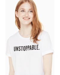 Kate Spade - Unstoppable Tee - Lyst