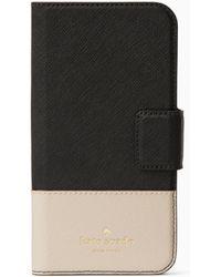 Kate Spade - Leather Wrap Folio Iphone X Case - - Lyst