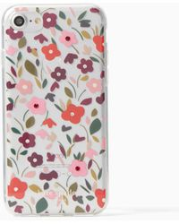 Kate Spade - Jeweled Boho Floral Clear Iphone 7 Case - Lyst