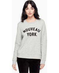 Kate Spade - Nouveau York Sweatshirt - Lyst