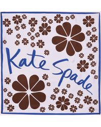 Kate Spade - Flowers Silk Scarf - Lyst