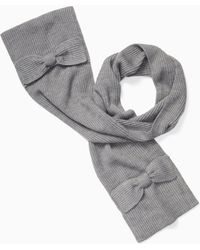 Kate Spade - Solid Bow Muffler - Lyst