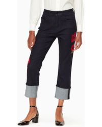 Kate Spade - Poppy Embroidered Jean - Lyst