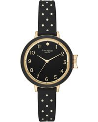 Kate Spade - Polka-dot Silicone Park Row Watch - Lyst