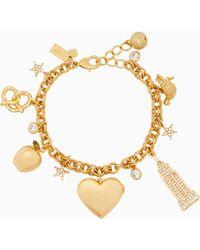 Kate Spade - Dashing Beauty Charm Bracelet - Lyst
