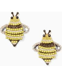 Kate Spade - Picnic Perfect Jeweled Bee Statement Studs - Lyst