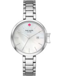 Kate Spade - Park Row Stainless Steel Bracelet Watch - Lyst