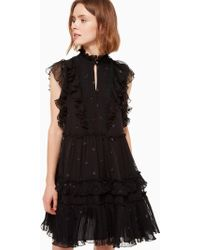 Kate Spade - Bakery Dot Devore Dress - Lyst