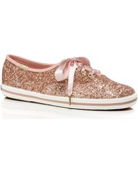 Kate Spade - Keds X New York Glitter Trainers - Lyst