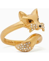 Kate Spade - So Foxy Fox Ring - Lyst