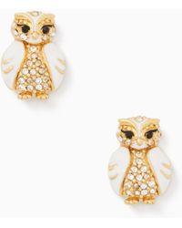 Kate Spade   Star Bright Owl Studs   Lyst
