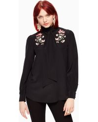 Kate Spade - Embroidered Roslin Top - Lyst