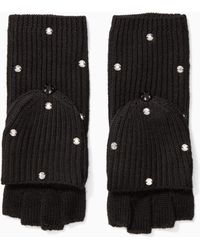 Kate Spade - Bedazzled Pop Top Mittens - Lyst