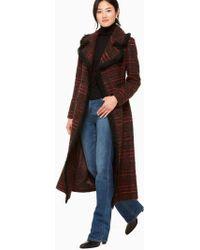 Kate Spade - Multi Tweed Fringe Coat - Lyst